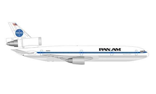 Bild von Herpa 534475 McDonnell Douglas DC-10-30 Pan American World Airways 1:500 | Herpa Wings